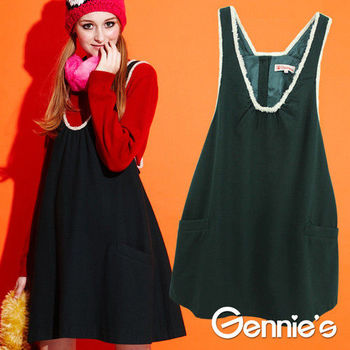 【Gennie's奇妮】秋冬沉穩質感孕婦背洋(G2Y08)-綠