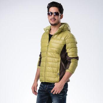 【JORDON 橋登】時尚配色 男款 超輕高規格95%羽絨夾克外套(993)