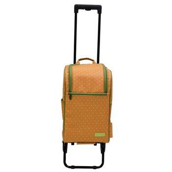 卡蘿輕便時尚購物車(輕旅行/登機)-20L-黃色水玉