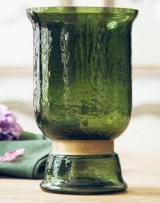 歐式複古綠色花瓶客廳玻璃花瓶假花絹花裝飾品擺件04