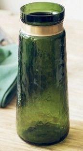 歐式複古綠色花瓶客廳玻璃花瓶假花絹花裝飾品擺件02