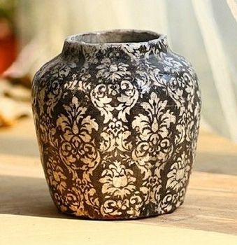 陶瓷花盆多肉花瓶花器歐式地中海系列黑罐