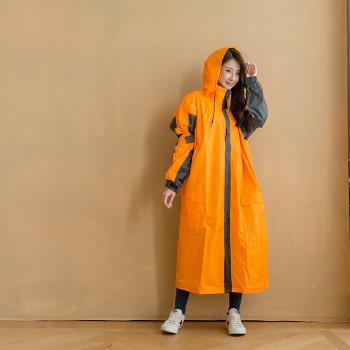 奧德蒙戶外機能特仕OutPerform-勁馳率性款連身式風雨衣-橘/鐵灰