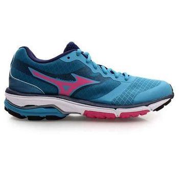 【MIZUNO】WAVE UNITUS DC 女慢跑鞋- 路跑 美津濃 湖水藍桃紅