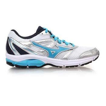 【MIZUNO】WAVE LEGACY WIDE 女慢跑鞋 路跑 寬楦 白淺藍