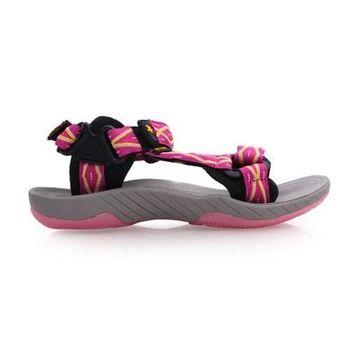 【SOFO】女圖騰涼鞋-休閒涼鞋 拖鞋 灰桃紅