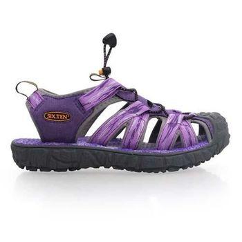 【SOFO】女護趾涼鞋-休閒涼鞋 拖鞋 紫