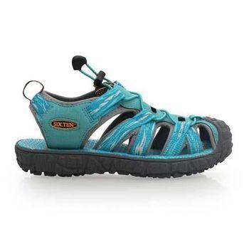 【SOFO】女護趾涼鞋-休閒涼鞋 拖鞋 湖水藍