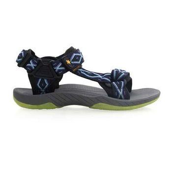 【SOFO】男圖騰涼鞋-休閒涼鞋 拖鞋 灰紫藍