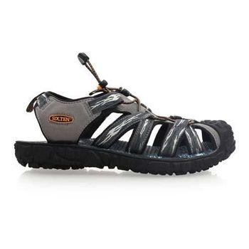 【SOFO】男護趾涼鞋-拖鞋 休閒涼鞋 灰藍綠