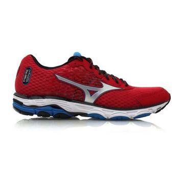 【MIZUNO】WAVE INSPIRE 11 男慢跑鞋- 路跑 美津濃 紅藍
