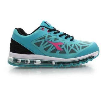 【DIADORA】女氣墊慢跑鞋-路跑 寬楦 運動鞋 休閒鞋 藍白黑