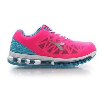 【DIADORA】女氣墊慢跑鞋-路跑 寬楦 運動鞋 休閒鞋 桃紅藍