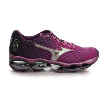 【MIZUNO】WAVE PROPHECY 4 女慢跑鞋- 路跑 美津濃 紫綠