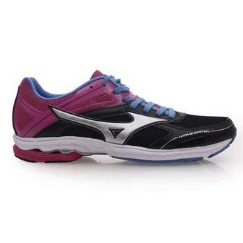 【MIZUNO】WAVE IDATEN DYNA 2 女路跑鞋 慢跑  黑桃紅紫