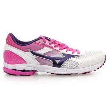 【MIZUNO】WAVE SPACER DYNA 2 女路跑鞋 慢跑 白粉紫
