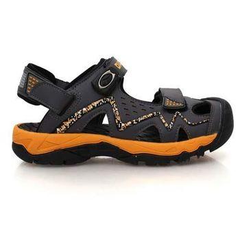 【DIADORA】男運動涼鞋-排水 拖鞋 休閒涼鞋 灰橘