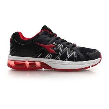 【DIADORA】男氣墊慢跑鞋-路跑 寬楦 運動鞋 休閒鞋 黑紅白