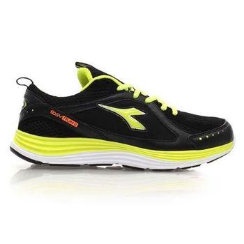 【DIADORA】男慢跑鞋-路跑 寬楦 運動鞋 休閒鞋 黑淺綠