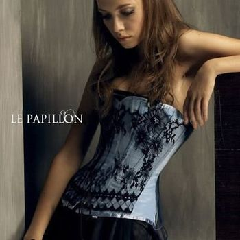 【LE PAPILLON】法式古典睫毛蕾絲款馬甲