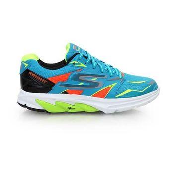 【SKECHERS】GO RUN STRADA 男慢跑鞋 路跑 慢跑 湖水藍螢光綠