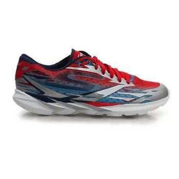【SKECHERS】GO MEB SPEED 3 男慢跑鞋- 路跑 附鞋帶 水藍紅