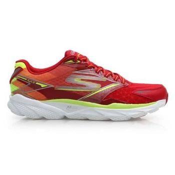 【SKECHERS】GO RUN RIDE 4 男慢跑鞋-路跑 附鞋墊 紅螢光黃