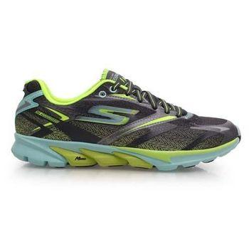 【SKECHERS】GO RUN 4 女慢跑鞋- 路跑 附鞋墊 深灰螢光黃