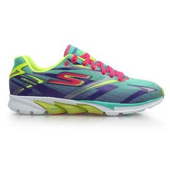 【SKECHERS】GO RUN 4 女慢跑鞋- 路跑 附鞋墊 綠螢光黃