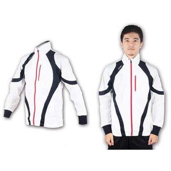 【ASICS】男運動外套-休閒外套 防風外套 亞瑟士  白丈青紅