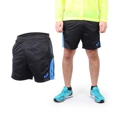 【ASICS】男排球短褲 - 休閒短褲 運動短褲 亞瑟士 黑藍