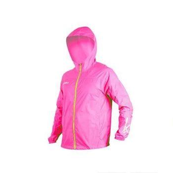 【ASICS】男防風衣外套-慢跑 防潑水 風衣 粉紅綠