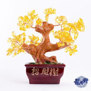 【龍吟軒】黃金富貴黃水晶大發財樹