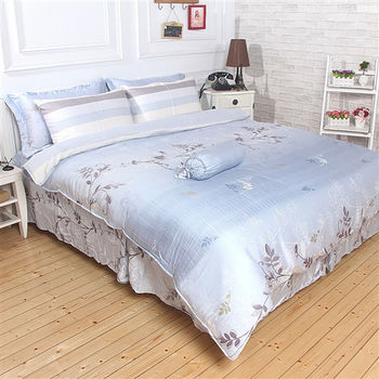 【Love City寢城之戀】頂級TENCEL天絲【隨心話語】雙人六件式兩用被床罩組(5X6.2尺)