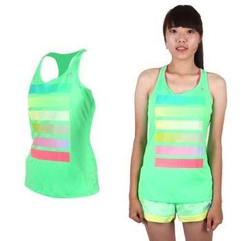 【ADIDAS】女運動背心-愛迪達 螢光綠桃紅藍