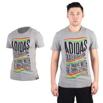 【ADIDAS】ORIGINALS 復古三葉草男短袖T恤-運動 愛迪達 灰黃紅綠