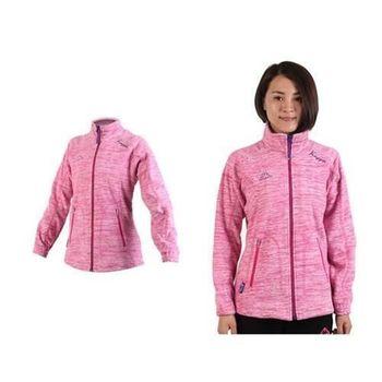【KAPPA】女運動外套-保暖 刷毛 立領外套 粉紅