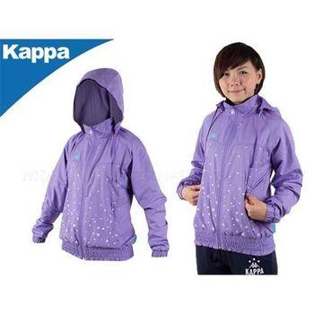 【KAPPA】單層女連帽風衣外套  紫