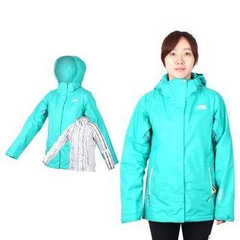 【THE NORTH FACE】女GT羽絨兩件式外套 - GORE-TEX 湖水綠