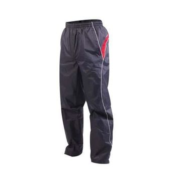 【KAPPA】男防風長褲-運動長褲 雙層風褲 防潑水 深灰紅