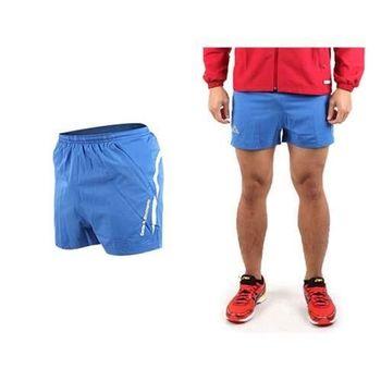 【KAPPA】男運動短褲-慢跑 路跑 三分褲 休閒短褲  寶藍黃