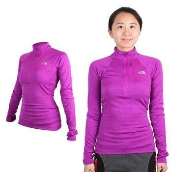 【THE NORTH FACE】女FLASHDRY長袖T恤 - 立領  紫