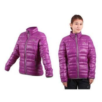 【THE NORTH FACE】600FILL女羽絨外套 天鵝絨 保暖 立領 紫灰