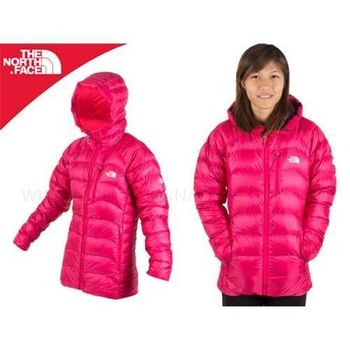 【THE NORTH FACE】700FILL 女連帽羽絨外套  桃紅