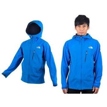 【THE NORTH FACE】APEX 男運動外套- 風衣外套 連帽外套 天藍