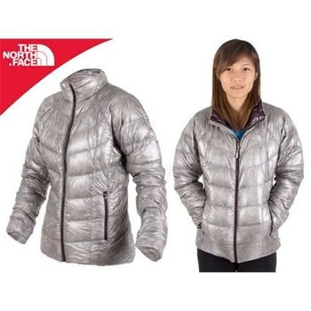 【THE NORTH FACE】900FILL 女羽絨外套-保暖  金屬銀