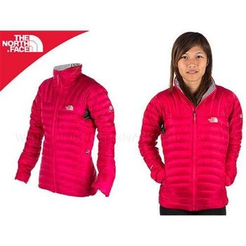 【THE NORTH FACE】800FILL 女羽絨外套-保暖  桃紅