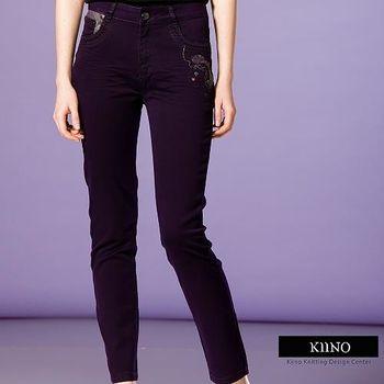 【KIINO】纖型設計微彈力直筒單寧牛仔褲-3016