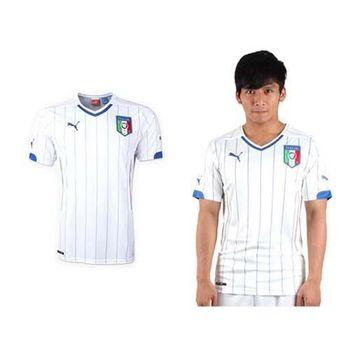 【PUMA】義大利客場 男短袖T恤-球衣 世界盃足球賽 世足  白藍