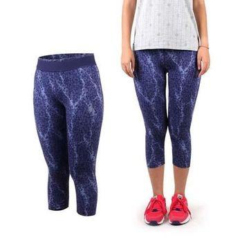 【PUMA】女運動緊身長褲-七分 有氧 健身 路跑 慢跑 紫